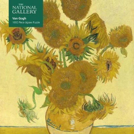 Adult Jigsaw Puzzle National Gallery: Vincent Van Gogh, Sunflowers : 1000-piece Jigsaw Puzzles