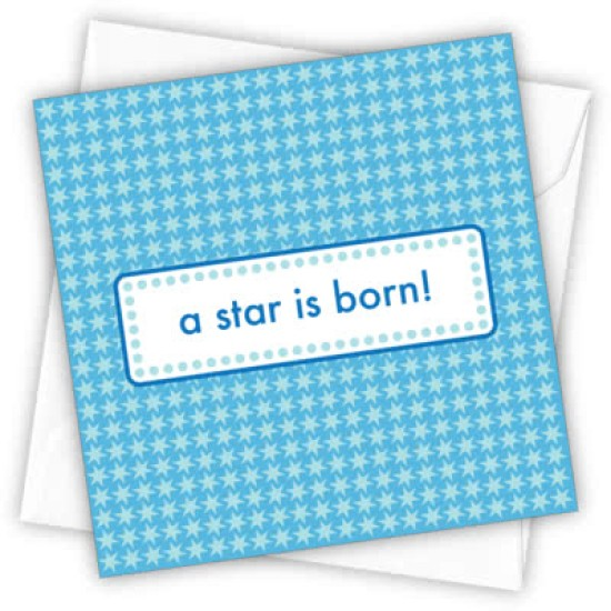 Cardtastic: A Star is Born (Blue) Greeting Card