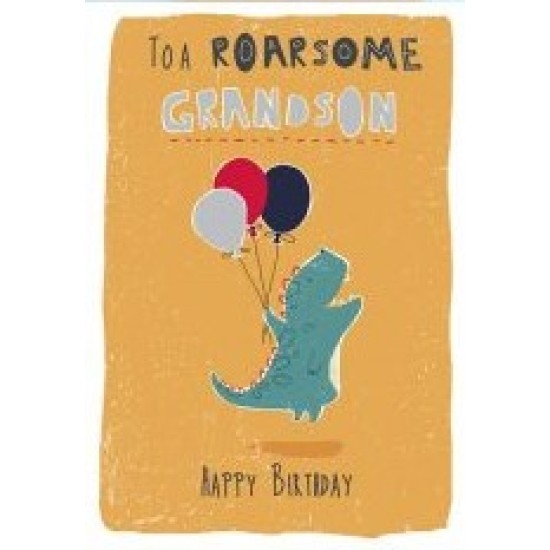 DS - Birthday to a Roarsome Grandson