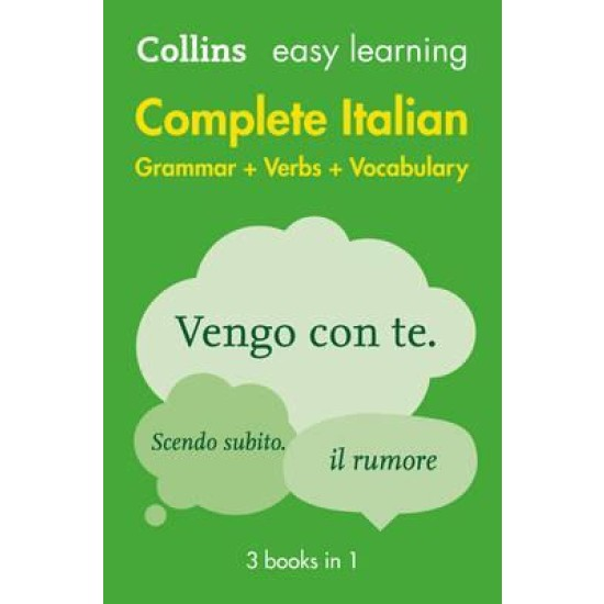 Easy Learning Italian Complete Grammar, Verbs and Vocabulary (3 Books in 1)