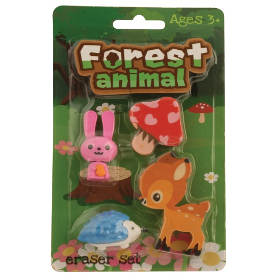 Erasers Forest Animals Pack